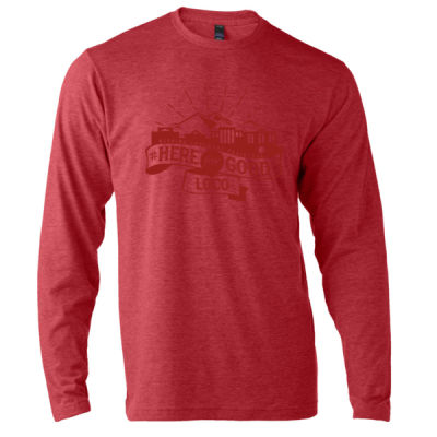 Here for Good LoCo (Red) - Unisex Poly-Rich Long Sleeve Tee (H4G) Thumbnail