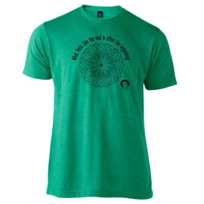 Full Circle Yoga The Beginning - Unisex Poly-Rich Tee Thumbnail