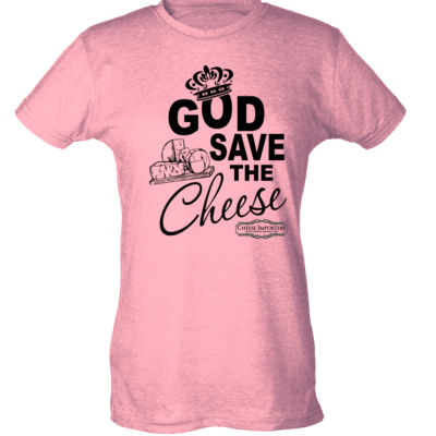 Cheese Importers - God Save the Cheese - Ladies Slim Fit Poly-Rich Tee Thumbnail