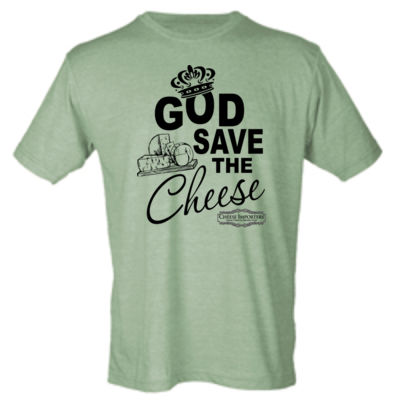 Cheese Importers - God Save the Cheese - Unisex Poly-Rich Tee Thumbnail