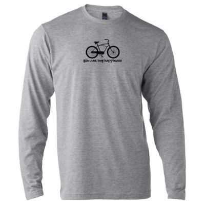You Can Buy Happiness Men's Cruiser - Unisex Poly-Rich Long Sleeve Tee (H4G) Thumbnail
