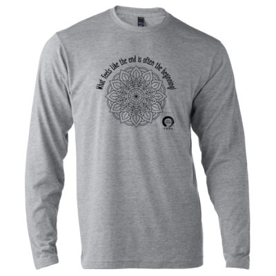 Full Circle Yoga The Beginning - Unisex Poly-Rich Long Sleeve Tee Thumbnail