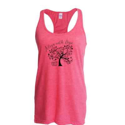 Align PT - Align with Hope - Ladies Slim Fit Poly-Rich Racerback Tank Thumbnail